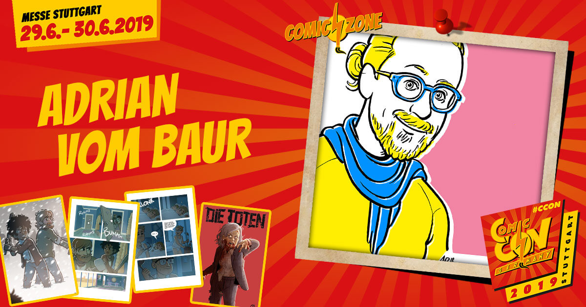 CCON | COMIC CON GERMANY 2019 | Comic-Zone Zeichner | Adrian vom Baur