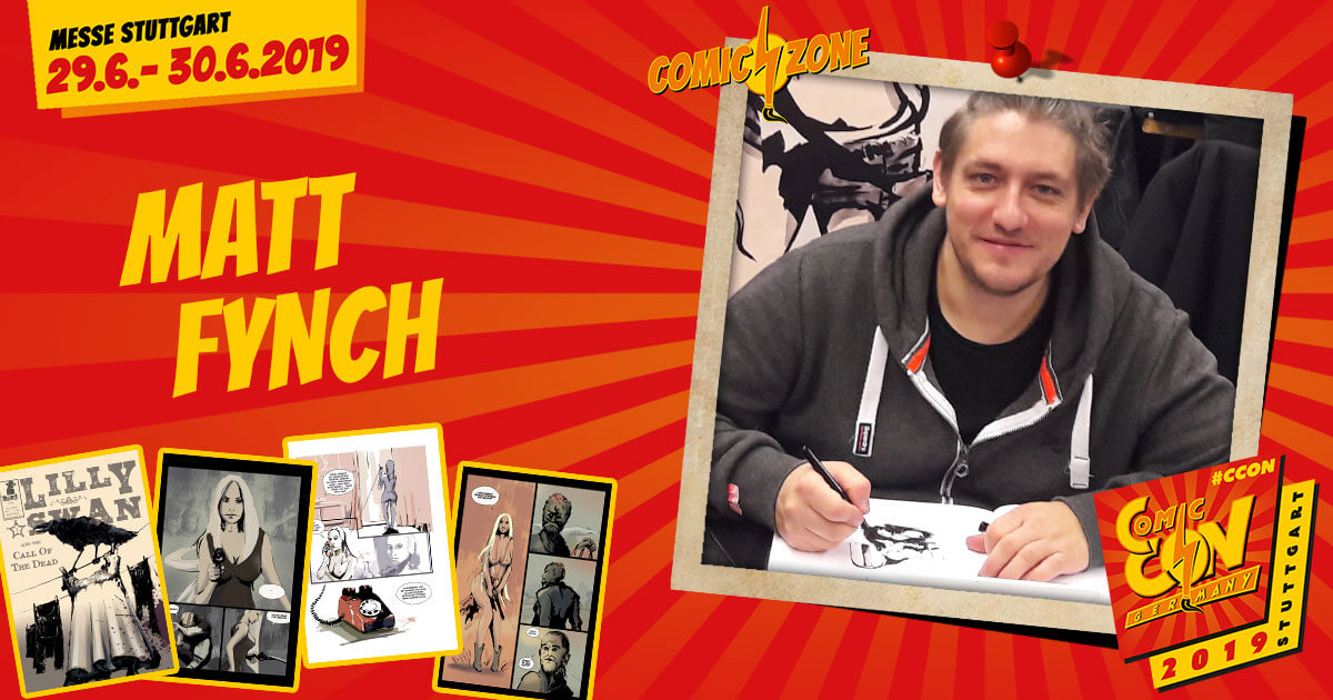 CCON | COMIC CON GERMANY 2019 | Comic-Zone Zeichner | Matt Fynch