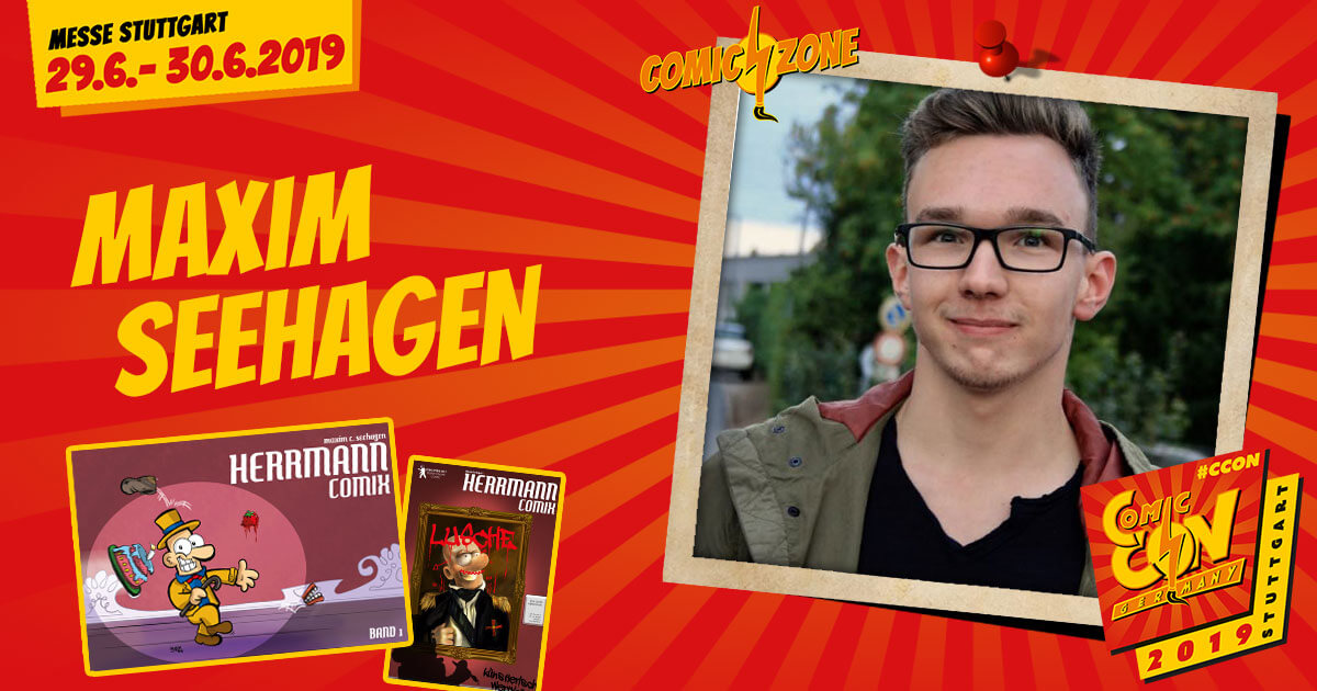 CCON | COMIC CON GERMANY 2019 | Comic-Zone Zeichner | Maxim Seehagen