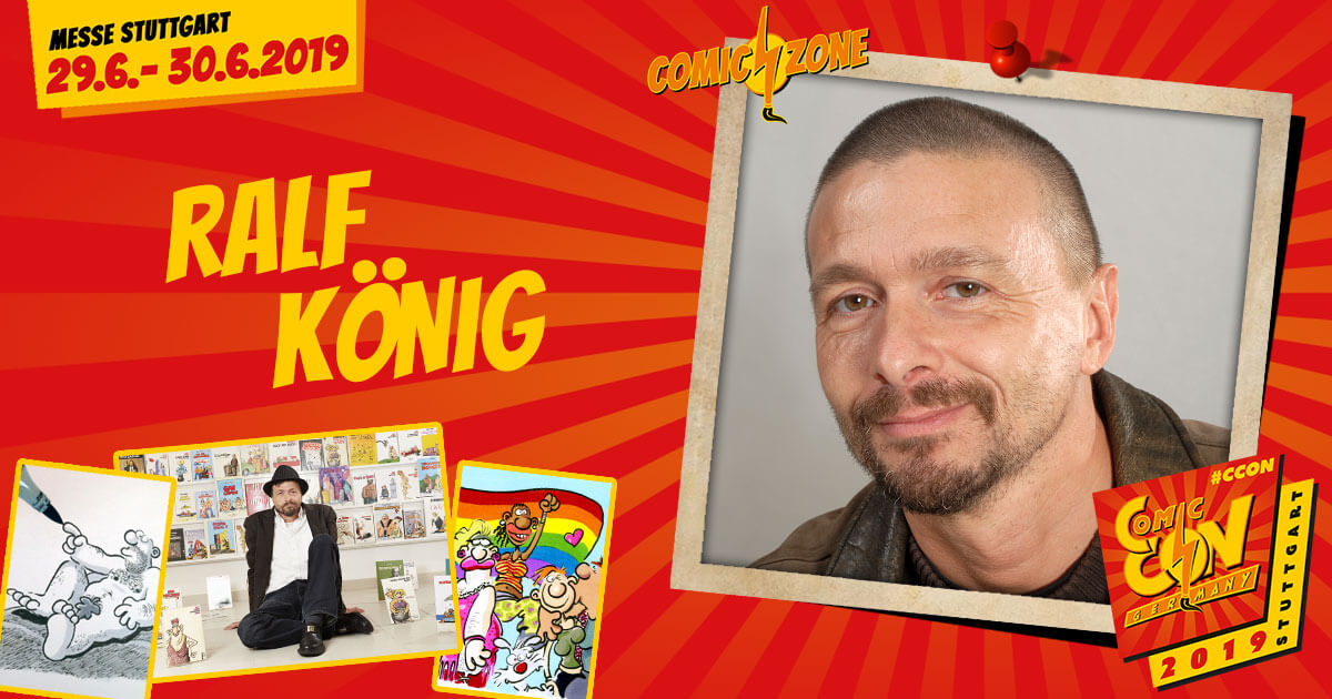 CCON | COMIC CON GERMANY 2019 | Comic-Zone Zeichner | Ralf König
