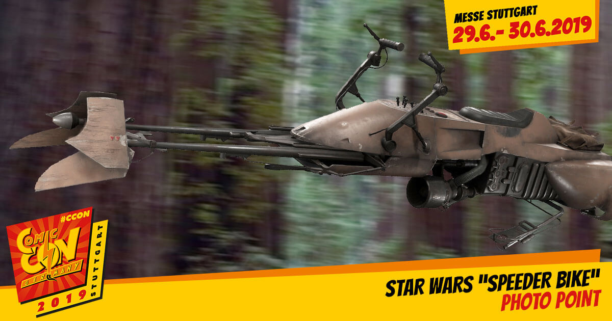 CCON | COMIC CON STUTTGART 2019 | Specials | Star Wars Speeder Bike Photo Point