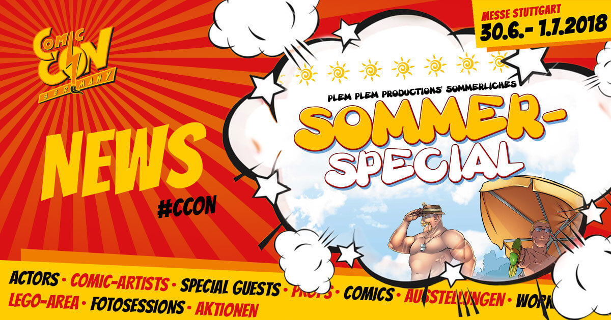 CCON | COMIC CON GERMANY | News | Plem Plem Sommerspecial