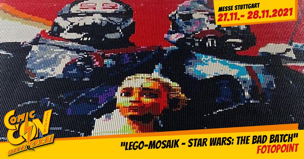 CCON | COMIC CON STUTTGART 2021 | Fotopoint | LEGO-Mosaik - Star Wars: The Bad Batch