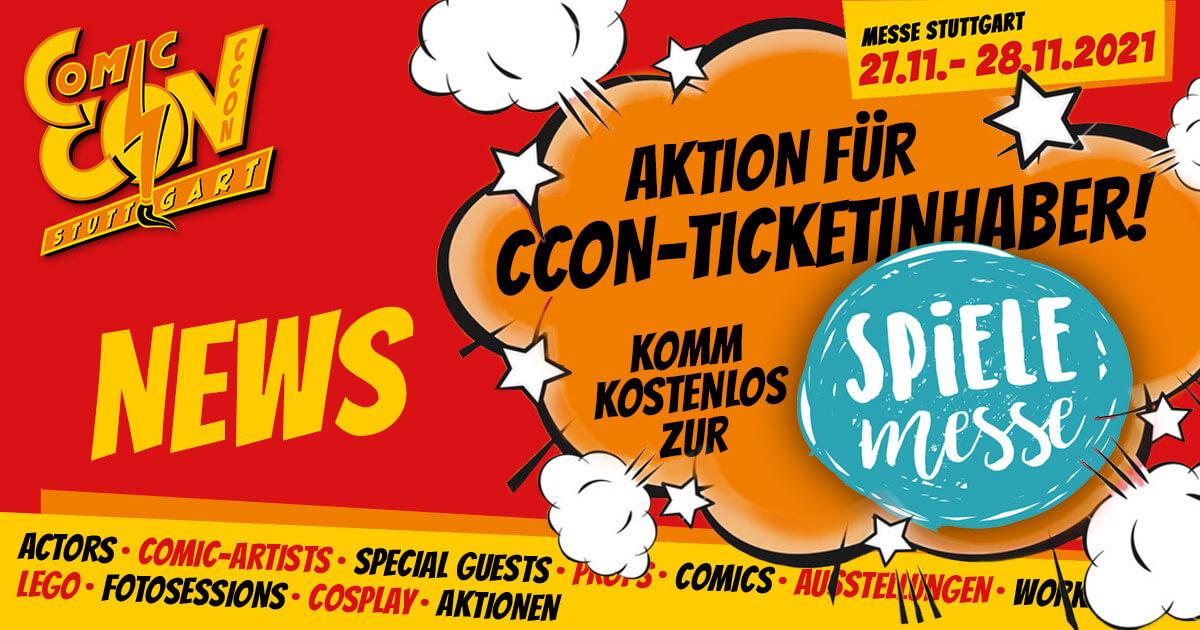 CCON | COMIC CON STUTTGART 2021 | News | Spielemesse-Aktion
