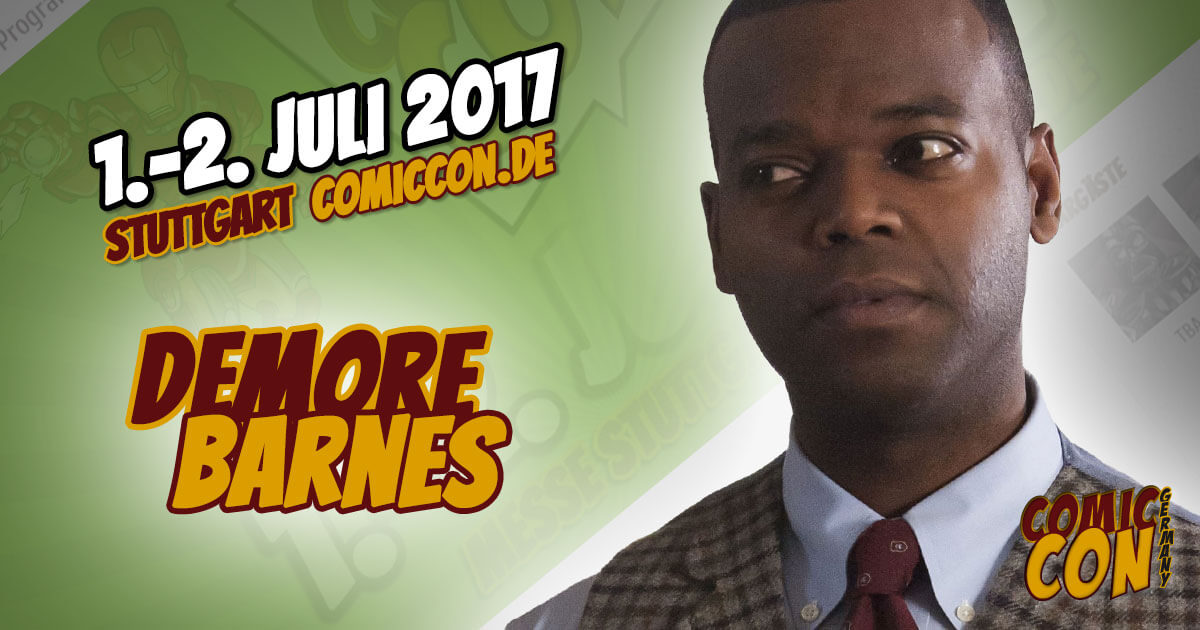 Comic Con Germany 2017 | Starguest | Demore Barnes
